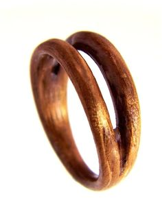 Hand Carved Bentwood Ring  Carved Wood Ring  by SaxonWoodJewels