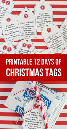 Simple 12 Days of Christmas Idea with Printable Tags- 12 days of christmas poems