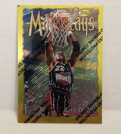 Clyde Drexler Basketball Card 1996-97 Topps Finest Gold 276 Houston Rockets Rare #HoustonRockets #forsale #basketballcard #clydedrexler #NBA #Ebay #Topps #finestgold #houstonrockets #sportscard #cardcollector #vintagecard #vintage #rare http://ow.ly/kc19307MnXw