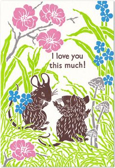 I love you this much  Letterpress Card by OldSchoolStationers, $7.00