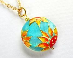 Sunflower Necklace Sunflower Jewelry Sunflower Pendant Floral Jewelry Sunflower Wedding Turquoise Jewelry Sunflower Bridesmaid Gift #sunflowerjewelry #sunflowerwedding #sunflowernecklace Sunflower Necklace, Sunflower Jewelry, Sunflower Gifts, Bridal Gifts, Bridesmaid Gifts, Wedding Jewelry, Hand Painted, Pendant Necklace, Trending Outfits