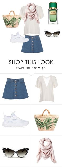 """""""Flowers 🌺 time look"""" by shaineanna on Polyvore featuring Monki, IRO, NIKE, Liberty и Dolce&Gabbana"""