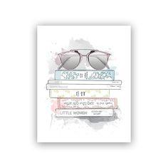 "Amanda's Library Art Print® - 8"" x 10"" by Alison Gordon Studio   Fashion Gifts   chapters.indigo.ca"