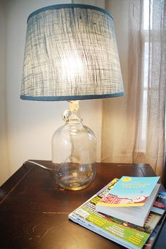 How To Make a Glass Jug Lamp