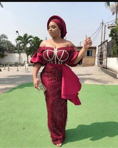 2020 African Fashion Trends : Cute Styles That Will Make You Look Cool African Lace Styles, Latest African Fashion Dresses, African Dresses For Women, African Attire, African Wear, African Style, African Beauty, Aso Ebi Lace Styles, Ankara Long Gown Styles