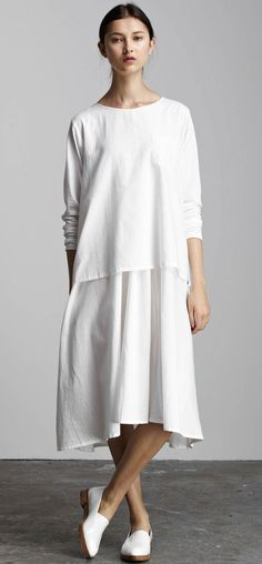 Kowtow White In the Shadows Dress