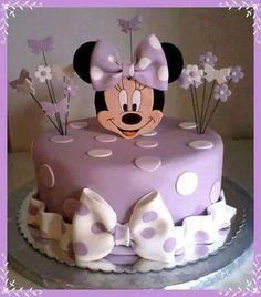 Miney Mouse Fondant Cake