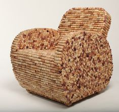Cork chair! If there was ever a reason to drink wine, this is it!