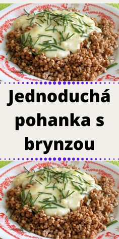 Jednoduchá pohanka s brynzou A Table, Beans, Food And Drink, Vegetables, Vegetable Recipes, Beans Recipes, Veggies