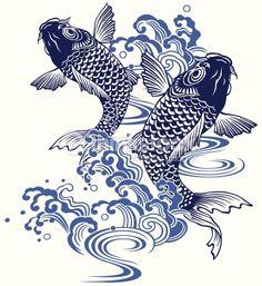 koi carp traditional japanese art - Google Search
