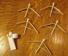 Bow and arrows With Q-tips | 22 Unique Q-Tip Crafts | Cheap DIY Crafts For Kids - Enhance The Motor Skills of your Children with these Fun and Cool DIY Projects | http://diyready.com/q-tip-crafts-diy/