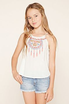 Girls Embroidered Cami (Kids)