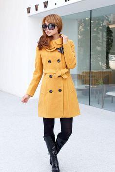 Women'S Woolen Warm Winter Coat Luxury Long Outerwear   eBay