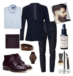 """Sin título #14"" by jenniegonzalez on Polyvore featuring Gucci, Alden, Paul Smith, HUGO, Armani Collezioni, Cedes, Movado, Ben Sherman, men's fashion y menswear"