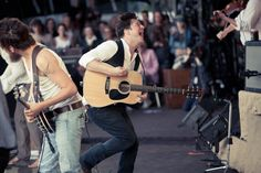 Winston Marshall and Marcus Mumford of Mumford & Sons at Hyde Park 2011. Click here for an alternative view of this moment. Photo © James Marcus Haney.