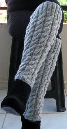 Items Similar To Hand Knit Leg Warmers Womens Wool Leg # artikel ähnlich handgestrickten beinlinge frauen wolle bein # articles similaires à jambières en tricot à la main jambe en laine pour femme Crochet Shoes, Crochet Slippers, Knit Crochet, Knee Socks Outfits, Hand Knitting, Knitting Patterns, Crochet Leg Warmers, Knitting For Beginners, Legs