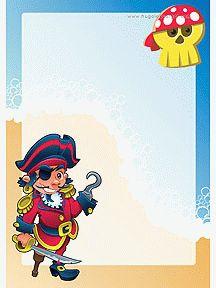 teken de papegaai van de piraat