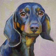 "Daily Paintworks - ""Dachshund "" - Original Fine Art for Sale - © Maria Z. dachshund funny, brindle dachshund, longhaired dachshund Paintworks - ""Dachshund "" - Original Fine Art for Sale - © Maria Z. Dachshund Facts, Arte Dachshund, Dachshund Love, Daschund, Horse Oil Painting, Painting & Drawing, Dog Paintings, Hanging Art, Dog Art"