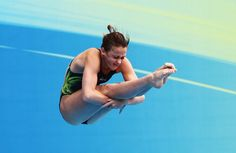 Brittany Broben, 15, of Australia competes in the Women's 1m Springboard Final during Day Four of the 14th FINA World Championships at the Oriental Sports Center on July 19, 2011 in Shanghai, China.