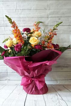 Large hand tied bouquet made Academy of floral art students level 2