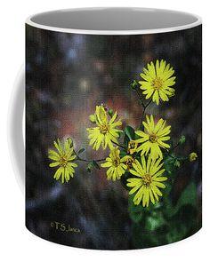 Wild Yellow Flowers Coffee Mug by Tom Janca.  Small (11 oz.)
