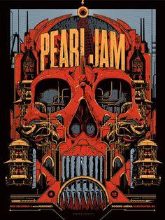 2013 Pearl Jam - Vancouver Concert Poster by Ken Taylor AP