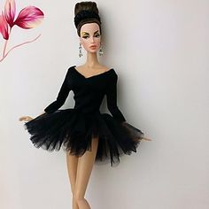 GBP - Fashion Handmade Ballet Dress/Clothes/Outfit For Barbie Doll Dress Outfits, Casual Dresses, Dress Clothes, Doll Dresses, Barbie Gowns, Barbie Ballet, Doll Clothes Barbie, Beautiful Barbie Dolls, Barbie Patterns