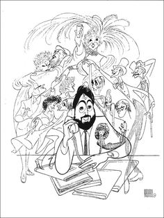 238 best the works of al hirschfeld images celebrity caricatures The Howling Movie al hirschfeld ken greenblatt and his broadway productions anthony quinn and lila kedrova in