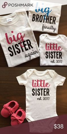 Siblings Matching Shirts Great way to introduce the newest member in the  family! Please comment 956a15064
