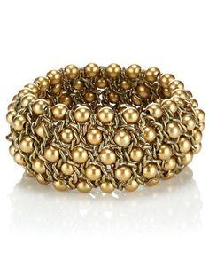Wide Mesh Stretch Bracelet $16.00.   Accessorize