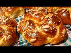 (128) Τσουρέκια θεϊκή συνταγή - YouTube Pretzel Bites, Doughnut, Easter, Sweets, Bread, Desserts, Youtube, Recipes, Food