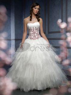 bustier amie broder belle robes de mariée de couleur soufflé