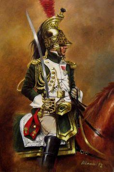 Legion d'Honneur  Ufficiale dei Dragoni dell'Imperatrice, alta tenuta verso la metà del 1806