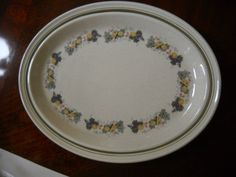 "Royal Doulton Lambeth Stoneware Harvest Garland Serving Platter 12 3/8 x 10 3/8""   eBay"