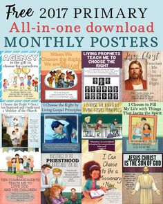 Latter-day Chatter: 2017 Monthly Posters ALL-IN-ONE DOWNLOAD