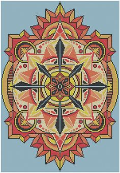 Geometric 18 - Compass - Counted Cross Stitch Pattern (X-Stitch PDF)  Thanks for visiting my store! This cross-stitch pattern was personally and lovingly designed by me! I love geometric cross-stitch patterns, so this one is right up my alley. This pattern comes in blue shades as shown in the first image, but you could easily substitute whatever colors you like as long as they range from dark to light, as shown in the images above. This pattern is available for instant download! Within…