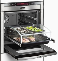 New Technology Steam oven; a reflection of an overall trend toward a more efficient and healthier lifestyle. #mydreamkitchen @KitchenDoorWorkshop