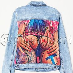 Check out this item in my Etsy shop https://www.etsy.com/listing/621644303/hand-painted-jacket-jean-jacket-art