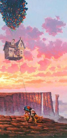 Up by Rodel Gonzalez Disney Up, Disney Love, Up Pixar, Whats Wallpaper, Cute Wallpaper Backgrounds, Cute Cartoon Wallpapers, Image Princesse Disney, Disney Background, Disney Phone Wallpaper