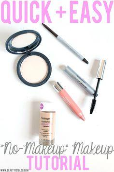 "This ""no makeup"" makeup tutorial is so quick + easy. Love it! #AllDayLook #CollectiveBias #Shop"