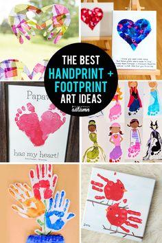 30 best handprint and footprint art ideas. Great Mother's Day gift ideas! #itsalwaysautumn #mothersday #handprintart #kidscrafts #handmadegifts