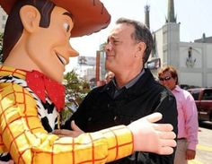Tom Hanks at Disney with Woody from the Toy Story movies. Love this pic; made me smile knowing that Tom Hanks was the voice of cowboy toy Woody for these animated movies. Disney Love, Disney Magic, Disney Stuff, Disney Girls, Disney Princess, I Smile, Make Me Smile, Toy Story, Look At You