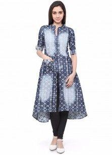 d16f554c86cf Modish Print Work Cotton Party Wear Kurti
