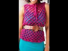 Como Tejer tunica en #crochet para encima de blusa - video 1