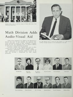 Northeast Missouri State College | The 1970 Echo | Math Division Improvements