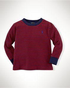 Striped Cotton Tee - T-Shirts  Infant Boy (9M–24M) - RalphLauren.com