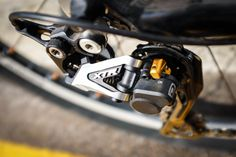 Sharp imagery of the XTR rear derailleur is only matched by the precision of its shifting performance.