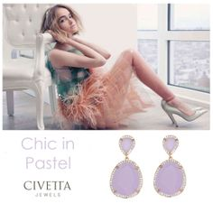 Delicate and fresh, Dainty #earrings by Airoldi features faceted lilac quartz gems surrounded by white cubic zirconia. Perfect for a #chic #pastel #style !  Available on our web store: http://www.civettajewels.it/store/en/home/173-silver-lilac-quartz-earrings-airoldi.html