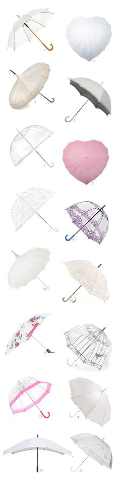 Stay dry and look super stylish with our pick of the best wedding umbrellas!