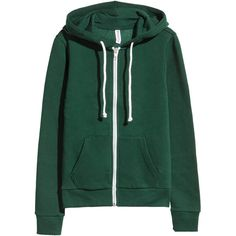 Munkjacka 199 ($9.99) ❤ liked on Polyvore featuring jackets, h&m, tops, ribbed top, zipper hoodies, green hoodies, hooded top and lined hoodies